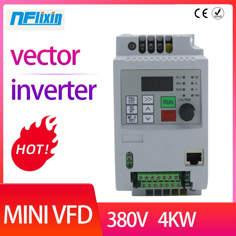 محول تردد صغير ، 0.75 كيلو واط ، 1.5kw ، 2.2kw ، 4kw ، 380V ، 3 مراحل ، 380V ، 3 مراحل ، الإدخال ، VFD ، 380V/VFD