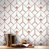 copper geometric marble light luxury sticker waterproof wear resistant matte floor stickers non slip tile stickers 20x20cm