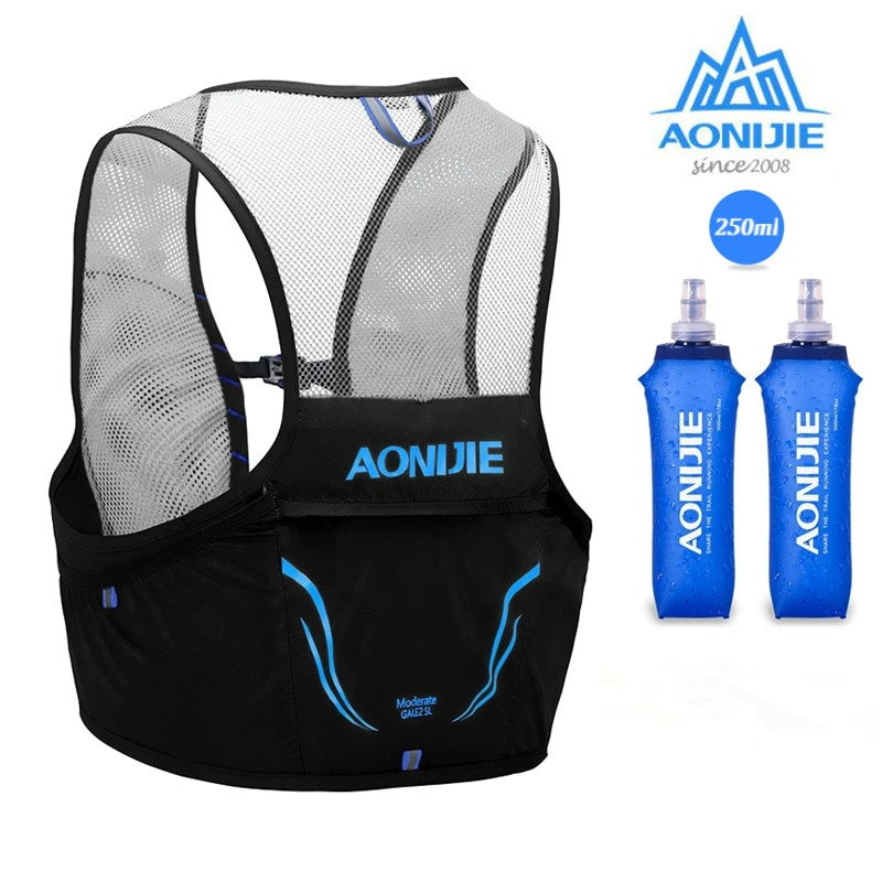 AONIJIE C932 2.5L Hydration Backpack Vest Lightweight Trail Running Bag With 250ml Soft Flask For Cycling Marathon Run Hiking