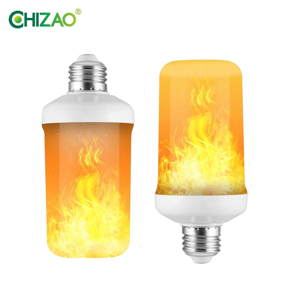 CHIZAO LED Dynamic flame effect light bulb Multiple mode Creative corn lamp Decorative lights For ba