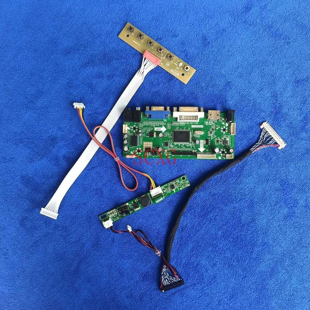 VGA DVI HDMI متوافق مع صالح LTM190BT07/LTM190BT08 30 دبوس LVDS 1366*768 متر. NT68676 محرك تحكم مجلس LCD LED لتقوم بها بنفسك عدة مصفوفة