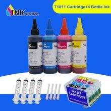 INKARENA 400ml Dencre De Colorant + 16XL T1621 T1631 Imprimante Cartouche Dencre Pour Epson WorkForce WF 2010 2510 2520 2530 2540 2630 2650 2660