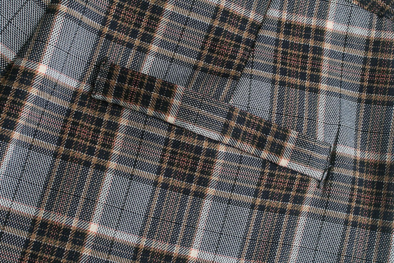 JC·KILIG 2021 Retro British Gigh Waist Plaid Straight Pants DP9409