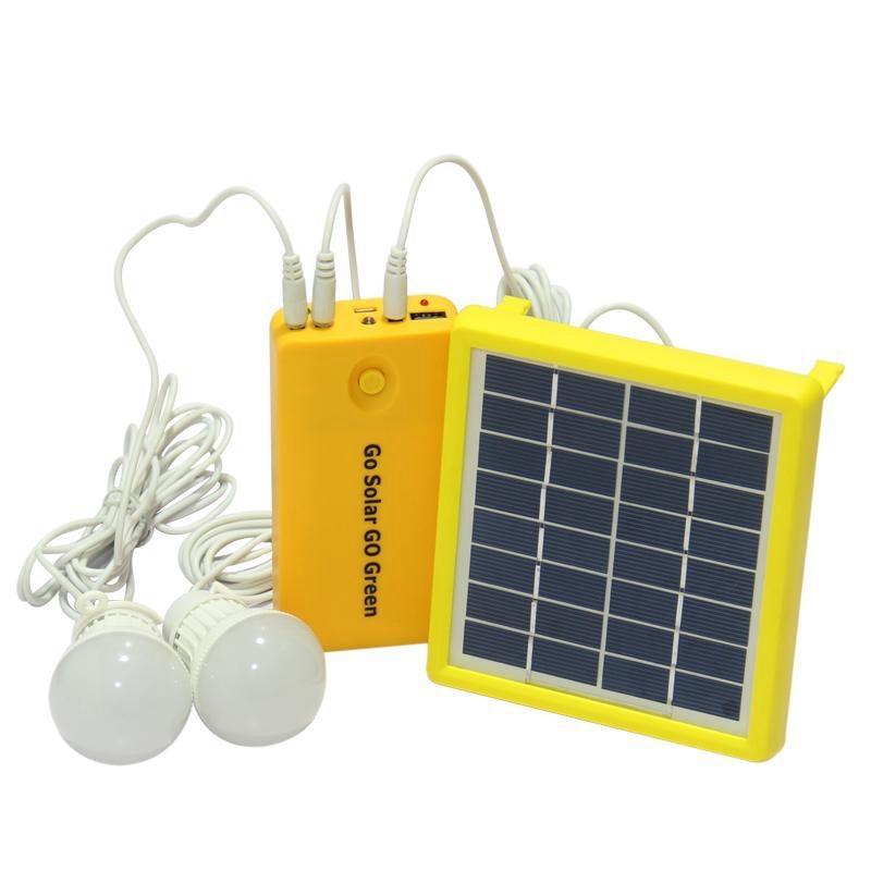 Nueva oferta 3 unids/set 7000Ma Panel generador de energía Solar Led bombillas 5V Usb cargador hogar exterior jardín lámpara Solar Camping Li