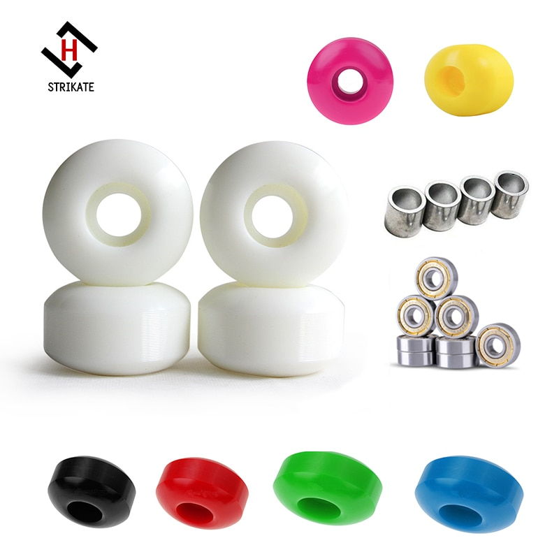 4pcs Skateboard Longboard Wheels 52mm 92A Road Skate Pro Action Motion Wheels with 8pcs ABEC 11 silver seal Bearing 4pcs spacers