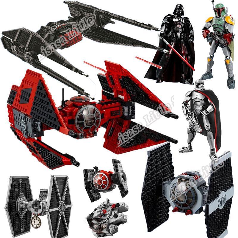 Новинка 2019 Звездные войны красный галстук боец AT-TE ходунки строительные блоки кирпичные игрушки для детей с 75240 75242