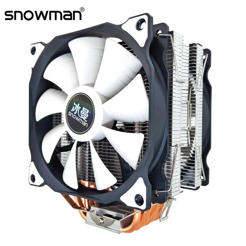 SCHNEEMANN CPU Kühler 6 Wärme Rohre 120mm 4 Pin PWM für Intel LGA 1150 1151 1155 1366 775 AMD AM4 AM3 AM2 CPU Lüfter PC Quiet