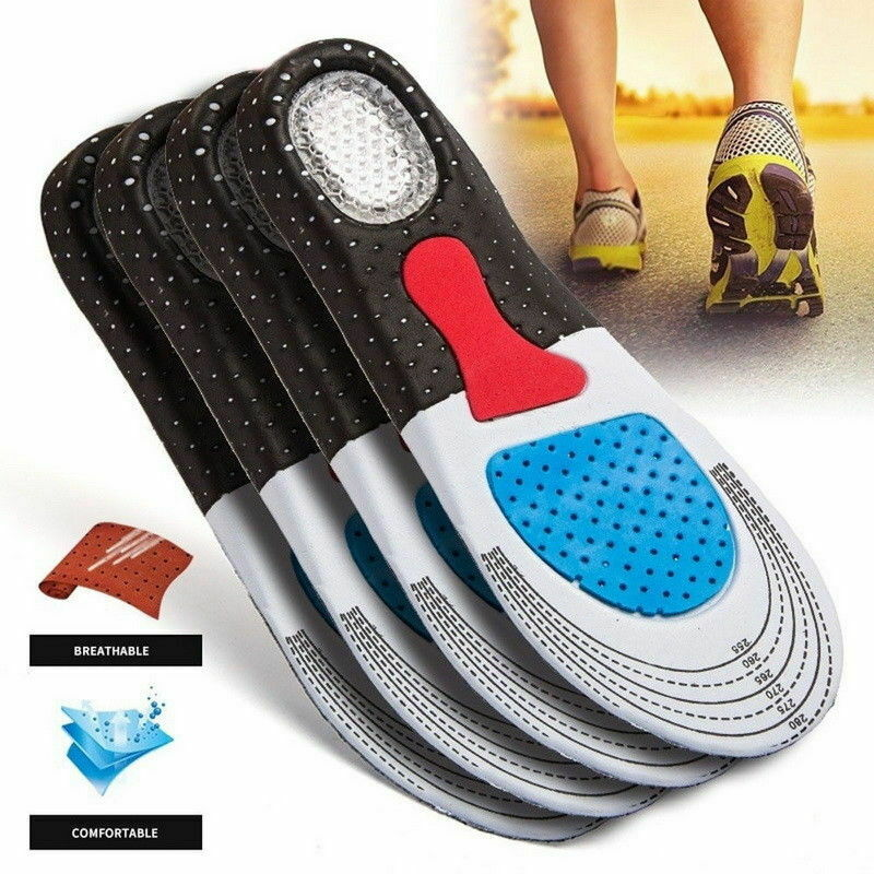 Men Gel Orthotic Sport Running Insoles Insert Shoe Pad Arch Support Heel Cushion 1PAIR