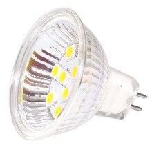 Free Ship!!! MR16 LED Bulb10led 5050 SMD 12VDC 12VAC Lamp Light 220LM Glass Cover LED spot blub Replace  to 20W Halogen 1pcs/lot