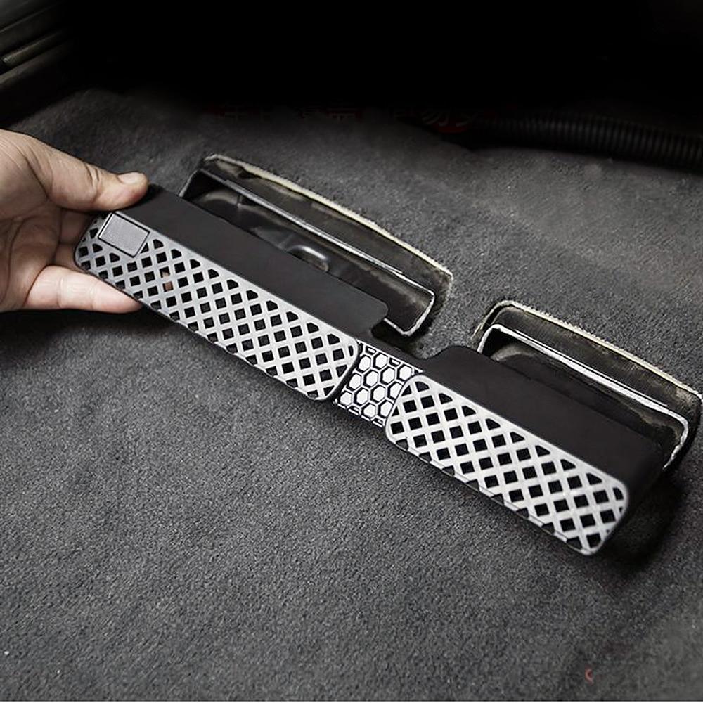 Car Interior Accessories For Audi Q5 2009 2017 Under Seat Floor AC Heat Air Conditioner Duct Vent Outlet Grille Cover Trim