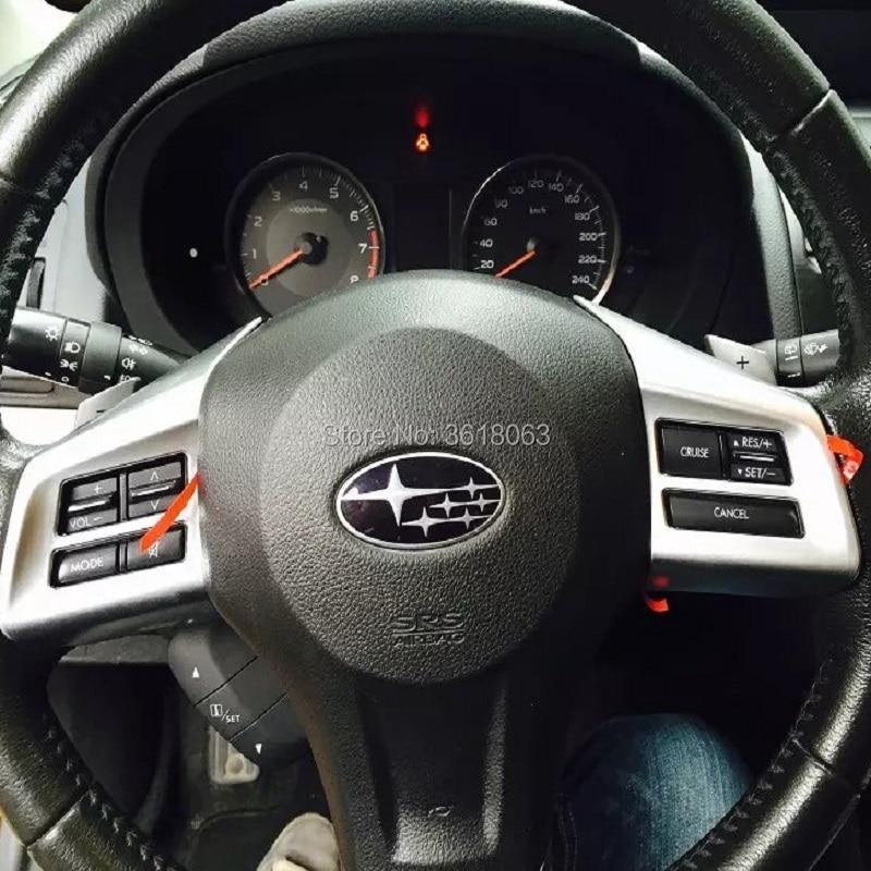 For Subaru XV 2012 2013 2014 2015 2016 2017 Car Inner Steering Wheel Switch Button Cover Interior Trim Frame Garnish Accessories