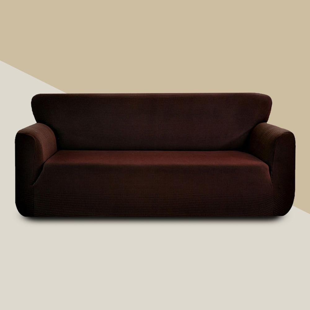 Waffle forma jacquard estiramento elástico capa de sofá cor sólida all-inclusive sofá de canto loveseat capa flexível slipcover
