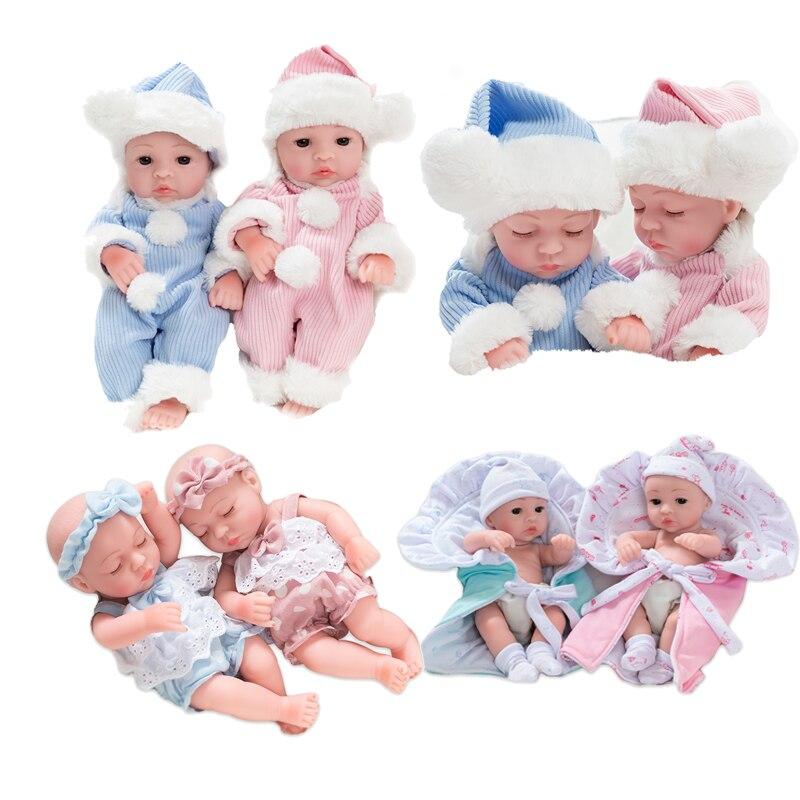 25 см милые Имитационные куклы мягкие виниловые открытые/закрытые глаза кукла-рождение с одеждой детская игрушка подарок на день рождения к...