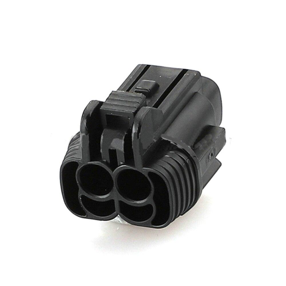 5/10/20/50/100 conjuntos 2pin auto nissan luzes de nevoeiro plug carro elétrico à prova dwaterproof água conector preto PB295-02020