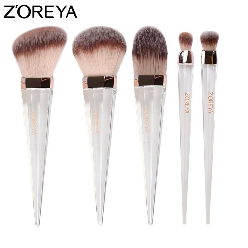 ZOREYA Makeup Brushes Powder Foundation Blush Blending Make Up Brush with Crystal Handle