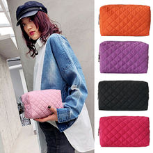 Woman Black classic Cosmetic Bags Multifunction Makeup Travel Toiletry Case Pouch Purse Box Zipper L
