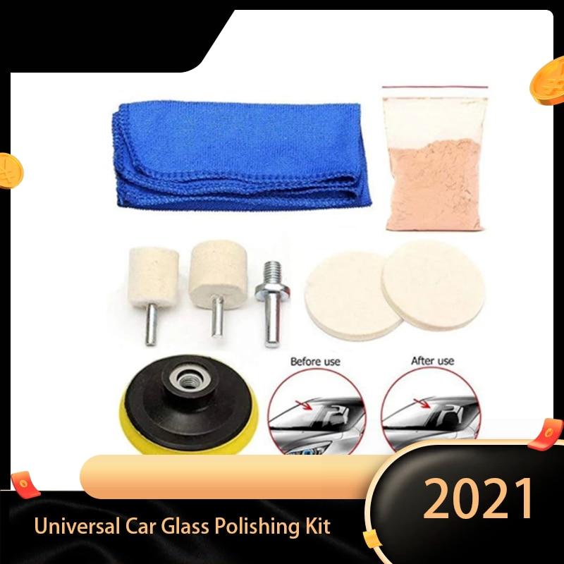 Универсальный Набор для полировки автомобильного стекла C63D, инструменты для удаления царапин на ветровом стекле и стекле, набор инструмент...