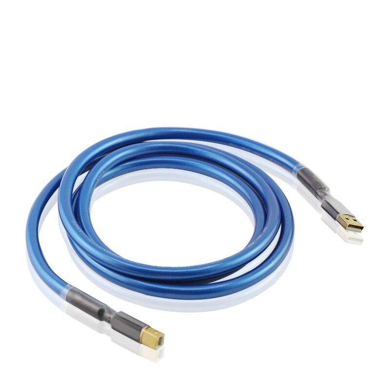CABLE USB 2,0 Chapado en plata de alta gama, A B, Audio...