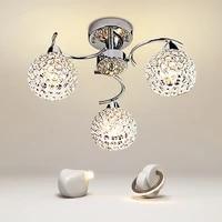 3 heads led dinning room crystal chandelier simple modern living room chandeliers e14 bulb led lustre lights