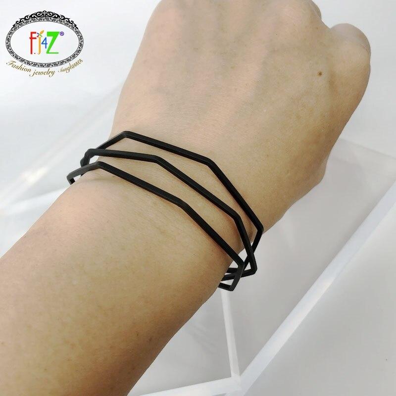F. J4Z diseño de moda oro plata negro cobre pulseras capas ajustable brazalete brazaletes para mujeres curo pulseiras de cuero