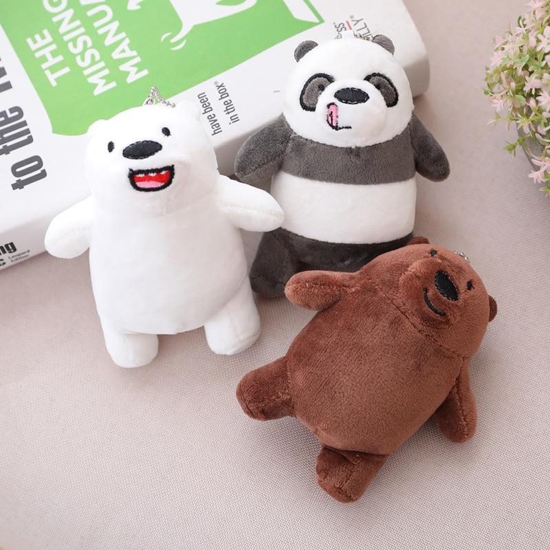 1 unidad 12cm oso Grizzly juguetes de peluche lindo oso Polor oso marrón de peluche muñeca colgante bolsa decoración regalo para niños niña Navidad