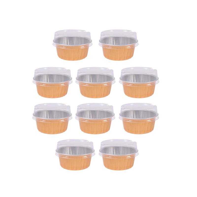 10 шт., 125 мл, алюминиевая фольга, чашка для выпечки, Термостойкие чашки для торта, Кондитерские маффиновые формы, вкладыши для кексов, Ramekins для десерта, кухни