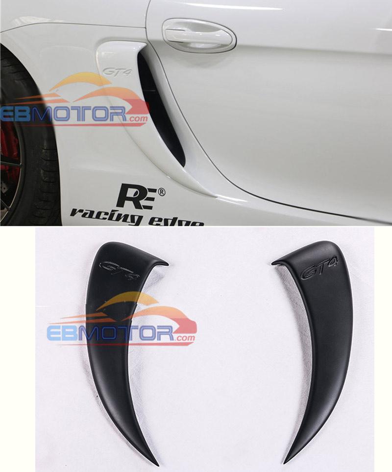 Ventilación lateral estilo GT4 FRP, modificación de coche, toma de aire lateral para Porsche 981 Cayman T077F