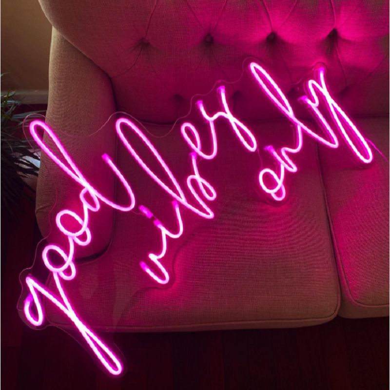 Good Vibes Only Neon Sign Letter Led Custom Wall Decor For Party Cafe Store Bar Wedding Decoration Neon Light Sign