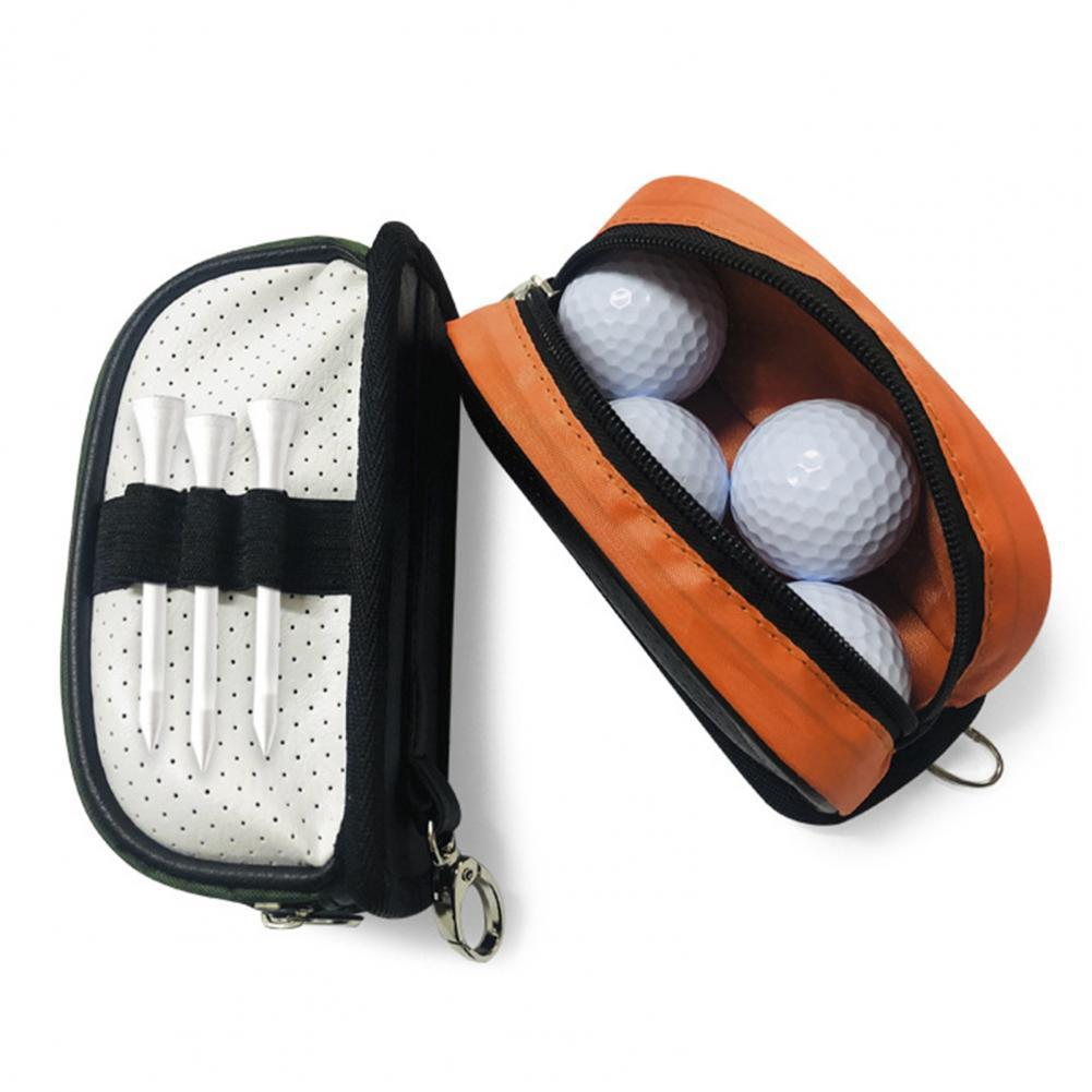 Golf Pouch Bag Practical Well-designed Faux Leather Golf Waist Pack for Sport Portable Mini Handbag Pack Tee Key For Man Women