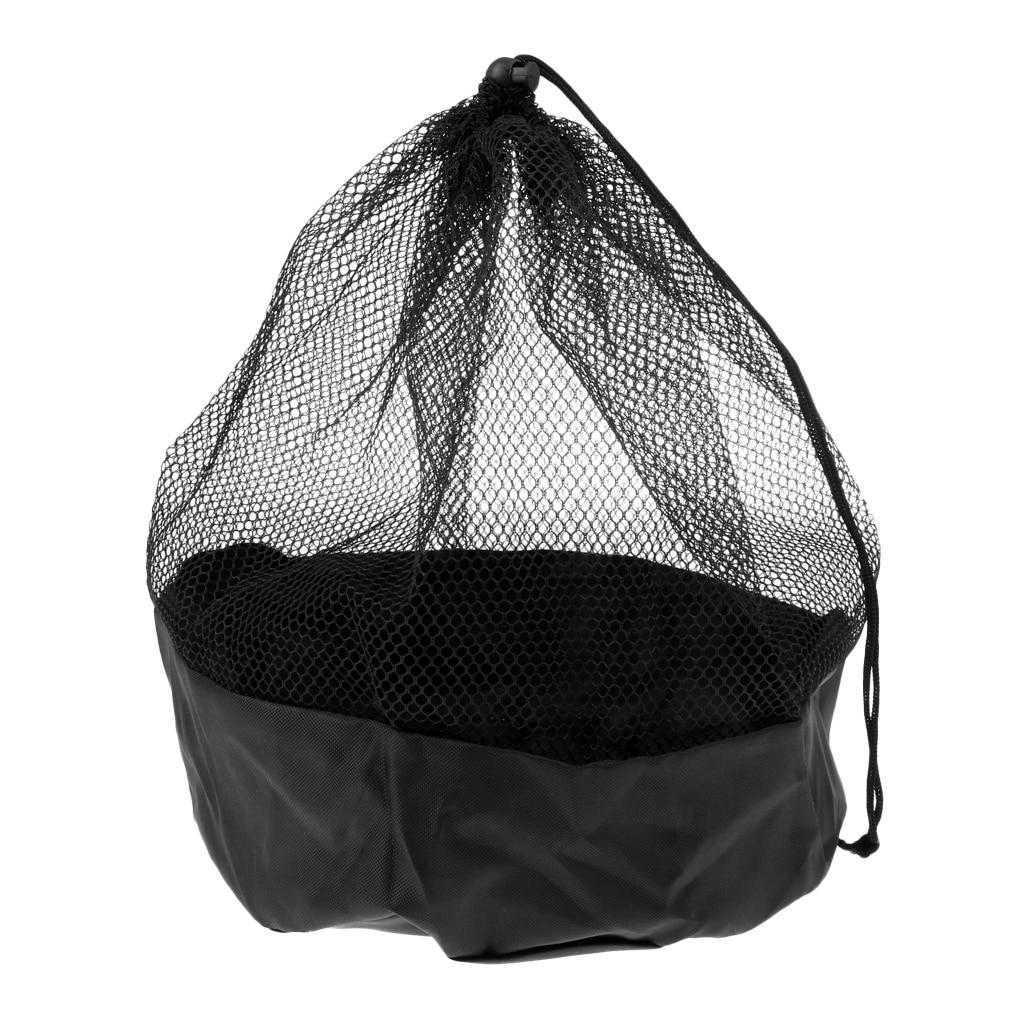 Soccer Disc Cone Storage Carry Bag Mesh Drawstring Holder Football Training