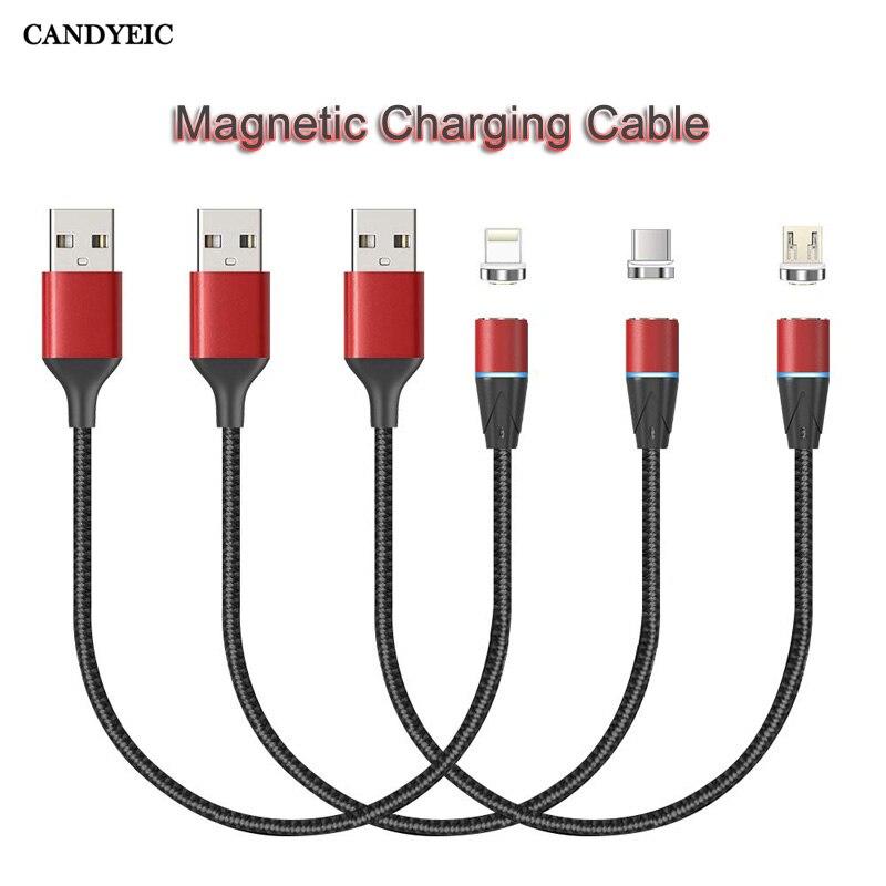 Candéico Cable de carga magnética para iPhone 11 Pro Max XR XS XSMAX X 8 7 Plus 6 6s Plus SE 5 5 5S SE magnético adaptador de cargador rápido
