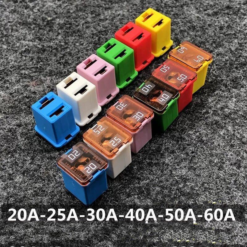 18 قطعة littleفتيل سيارة فيوز عدة 58 فولت 20A-60A 895 سلسلة مربع سيارة فيوز ل مرافقة ل Kewozi لفورد مجنح بو الخ 6 قيمة * 3 قطعة