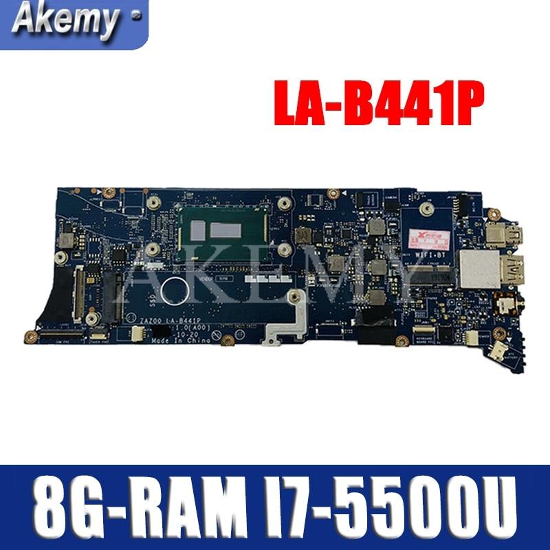 LA-B441P Laptop motherboard For DELL XPS 13 9343 original mainboard 8G-RAM I7-5500U