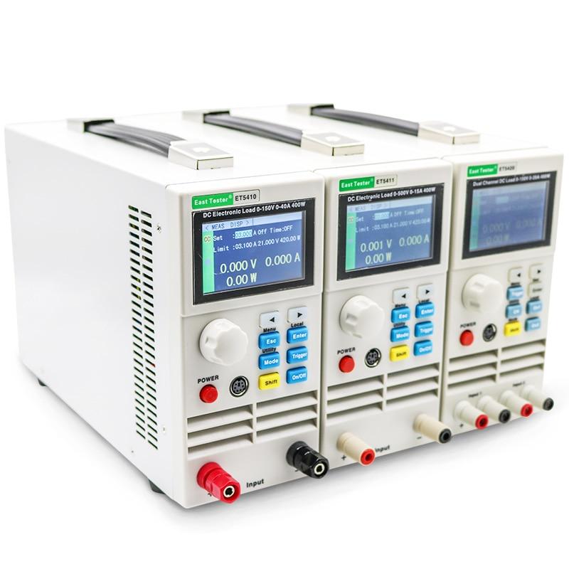 ET5420 ET5410 ET5411 الحمل الكهربائي 150 فولت 40A/15A 400 واط للبرمجة الرقمية تيار مستمر تحميل الإلكترونية جهاز اختبار بطارية تحميل متر
