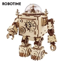 Robotime 5 종류의 팬 회전식 나무 DIY Steampunk 모델 빌딩 키트 조립 어린이를위한 장난감 선물 성인 AM601