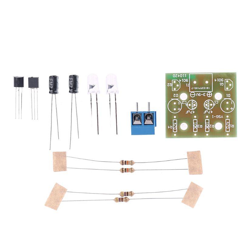 1Set Electronic DIY Making Kits Breathing Light Repair Parts Flashing Lamp Electronic Circuit Board