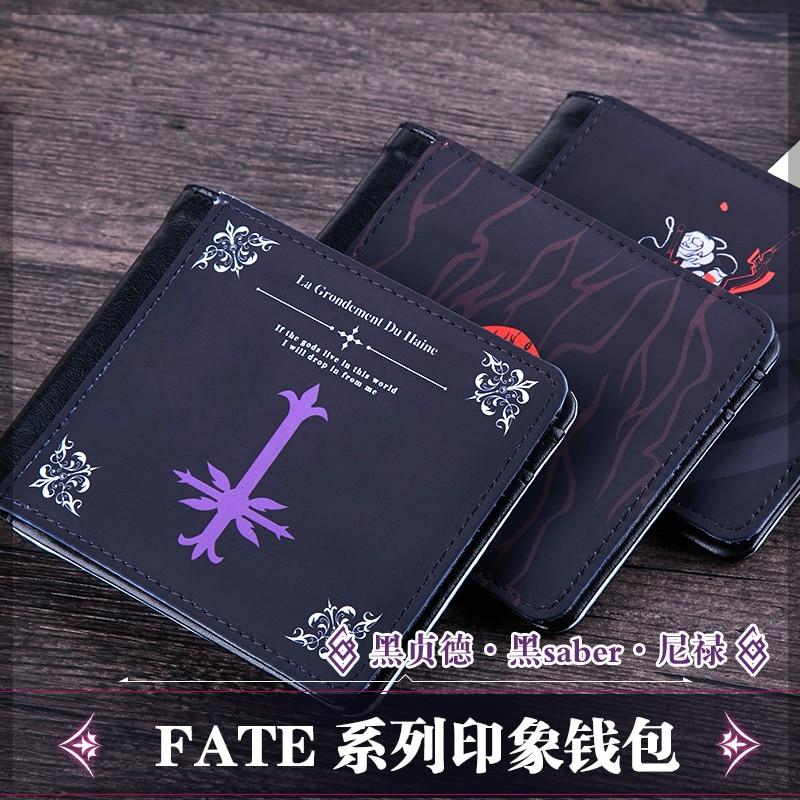 Аниме игра Fate/большой заказ FGO Fate/Экстра Nero Alter фигурка Короткие Кошельки набор карт держатель кошелек PU кожаный кошелек подарки