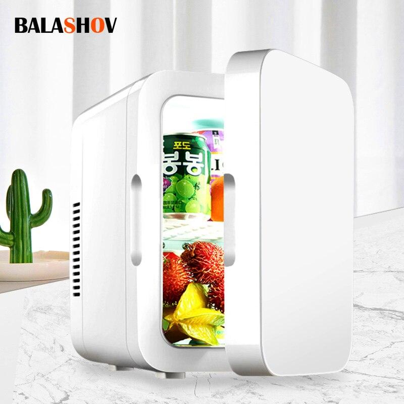 8l mini refrigerador portátil refrigerador compacto geladeira 12v/220v para caminhão de carro cozinha uso doméstico piquenique acampamento congelador silencioso