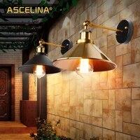 Lampe murale retro en fer E27 Edison  abat-jour Vintage pour Loft  decor industriel  eclairage de salle de bain  chambre a coucher  nouvelle collection