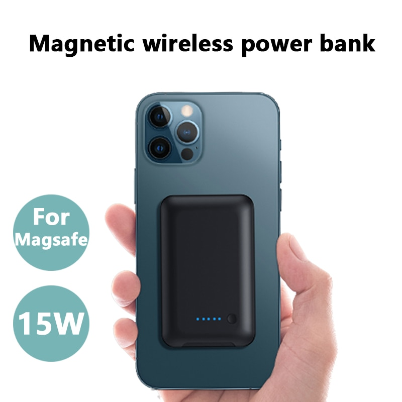 For iphone 12Pro 12ProMax xiaomi 5000mAh Wireless Power Bank For Magsafe 15W Fast Charging MagneticMobile Phone Charger battery