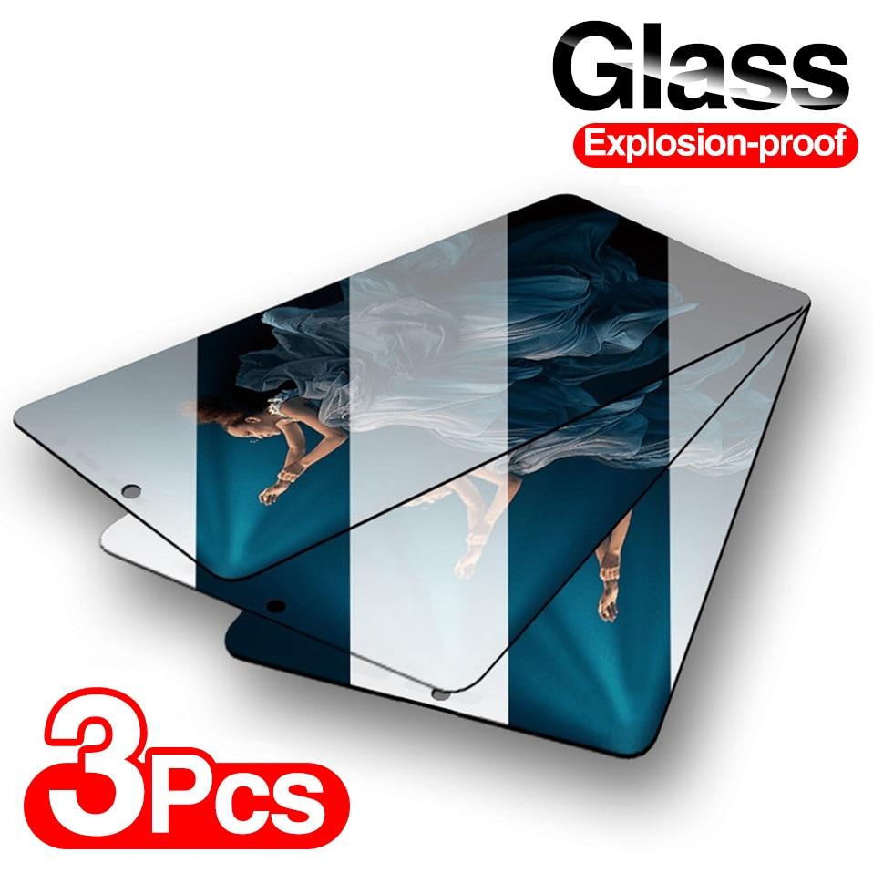 3 pçs cobertura completa de vidro temperado para samsung galaxy a50 a51 a70 a71 a10 protetor de tela para samsung a80 a40 a90 a60 a30 a20 vidro