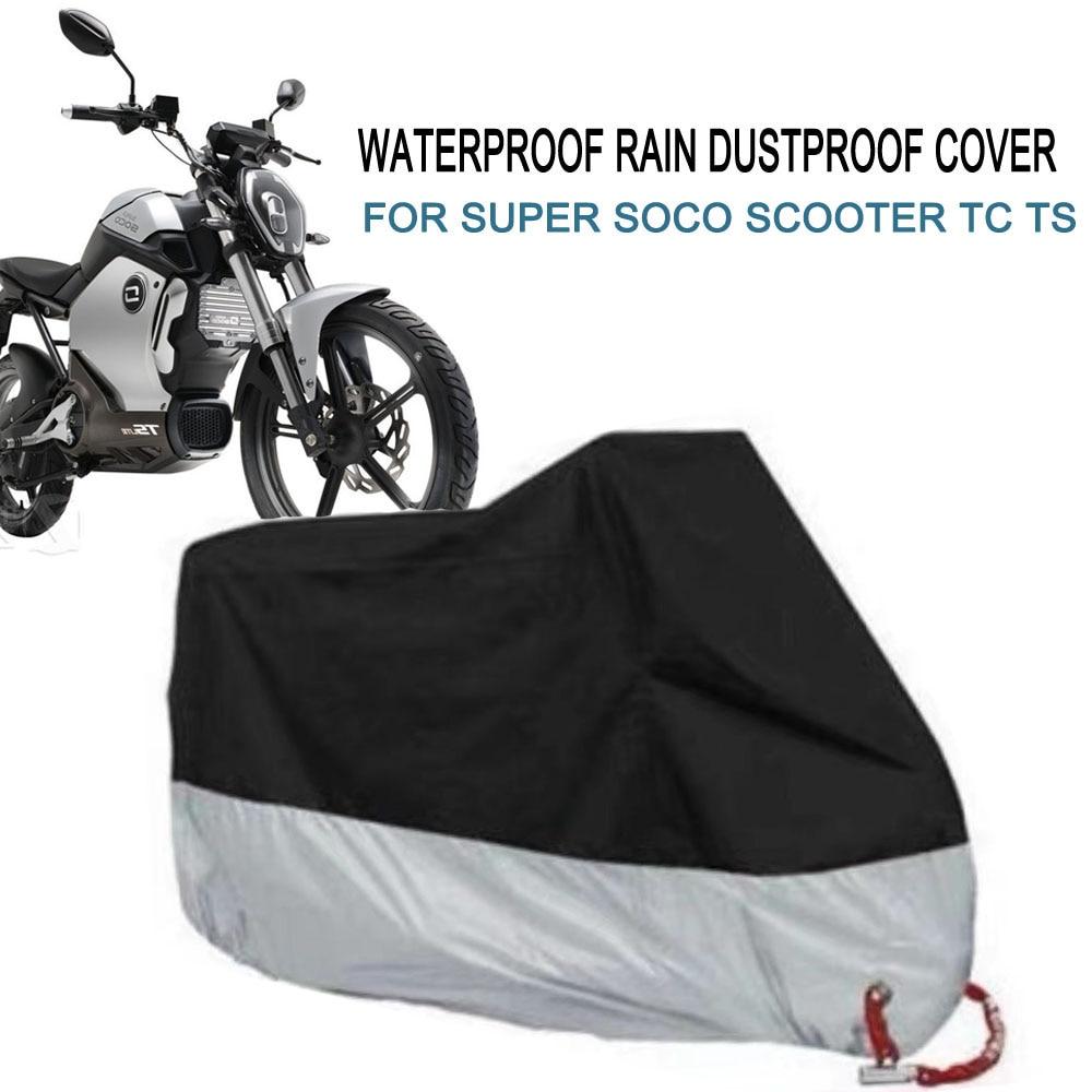 ل سوبر سوكو سكوتر TC TS غطاء دراجة نارية في الهواء الطلق الأشعة فوق البنفسجية حامي الموسم مقاوم للماء غطاء من الغبار المطر