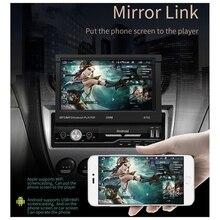 Écran de pression rétractable voiture   7 pouces, lecteur MP5, Android GPS, Navig, WIFI, Bluetooth, Radio, autoradio, lecteur Audio, lien miroir