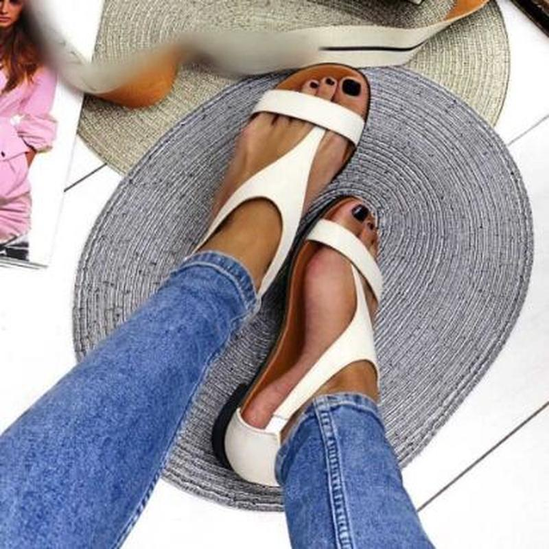 women summer beach plus size flats sandals casual shoes woman open toe gladiator slip on sandalias mujer sapato feminino D980