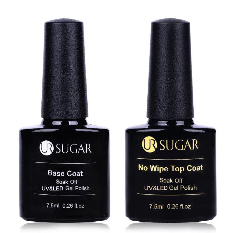 UR SUGAR Tempered Base Coat Matte No Wipe Top Coat Long-lasting Soak Off UV Gel Polish Nail Art Gel varnish Varnish