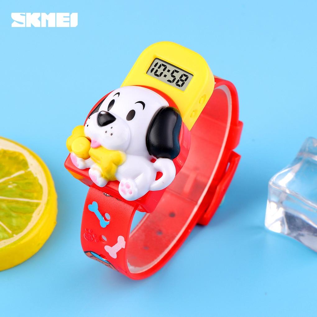 New Children Watch Creative Dog Lovely Cartoon Toys LED Digital Clock Kids Watches For Boys Girls Child Clock SKMEI Brand Hour