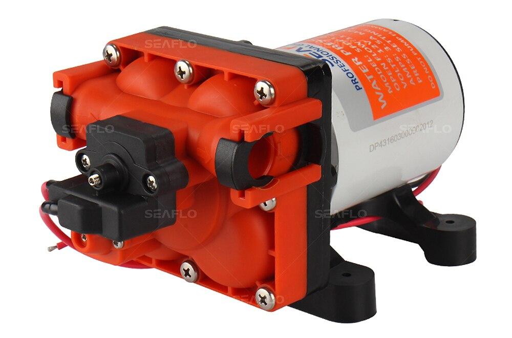 Niedrigen Druck Micro Membran Pumpe 12v 3,0 GPM 55PSI Wasser Pumpe Caravan Marine Yachting