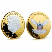1pcs donald j trump of us 2020 president donald trump silver gold plated eagle commemorative coin