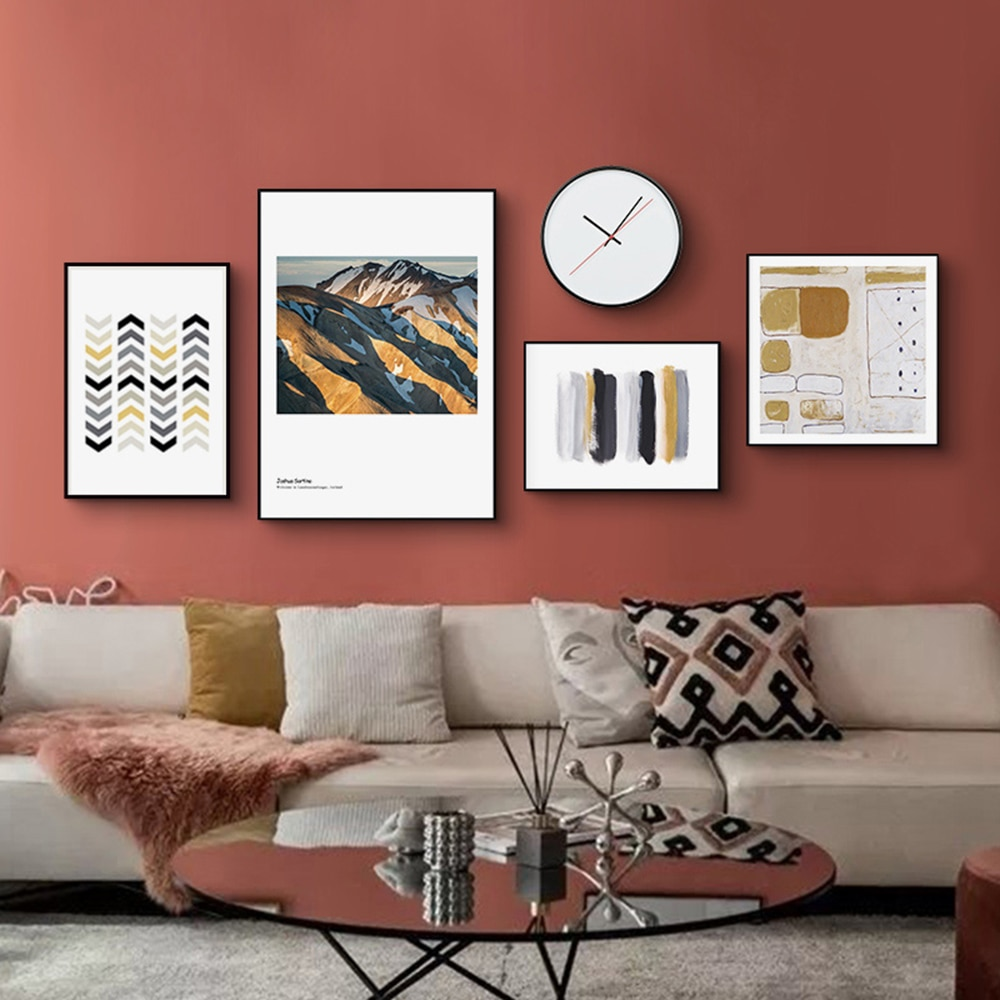 Pintura en lienzo personalizada para decoración de sala de estar, carteles e...
