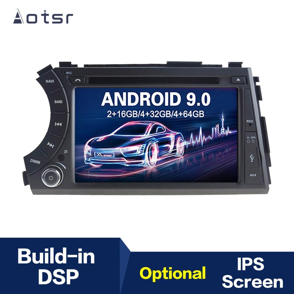 Reproductor de DVD para coche con navegación GPS Android 9,0 IPS para Ssangyong Kyron Actyon Micro 2005 + unidad principal, reproductor Multimedia, grabadora de cinta
